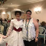 1900 Park Fare restaurant with Mary Poppins and Julie.