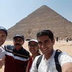 With Mr. Mustafa at the Pyramids