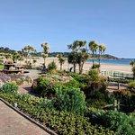 St Brelades Bay, along the promenade