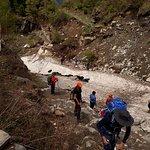 Crossing a glacier