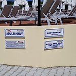 Adults only signs at pools