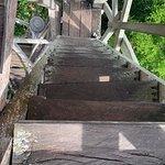 Observation tower steps