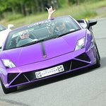 A Lamborghini. Nice colour, but my wife likes it!