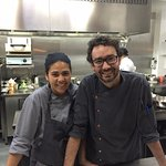 Chef José Pereira and his wife.