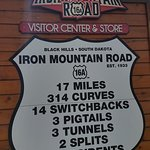 Iron Mountain Road sign along the tour.