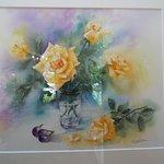 深澤豊子さんの薔薇の絵。