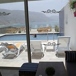 Restaurant/Lounge with a view over the see and the pool