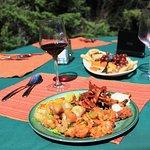 Delicious walleye shore lunches.