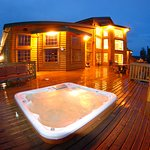 Rejuvenating lakefront hot tub.