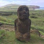 El único Moai sentado