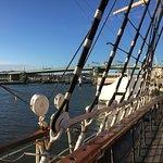 Hafenblick von der Barken Viking aus