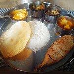 Fish curry rice thali 150