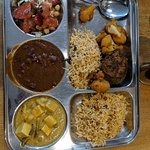 Indian dishes with rice.