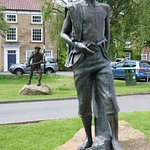 James Cook statue in village of Gt. Ayton