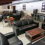 Our member's mezzanine complete with couches for enjoying your wine experience