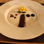 Sopa de chocolate blanco