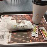 Breakfast Burrito Jr and coffee