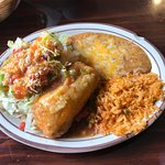I doubt that anyone can miss with the fantastic menu items at Casa Sanchez: chimichanga and Chil