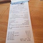 účet za večeři