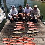 Limit of Red Snapper & Grouper, several Vermilion Snapper caught as well. Great day of fishing with Captain Adam and friends!
