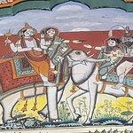 The common head of Bull and Elephant Fresco