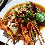 """""""One Stop Seafood Restaurant in Lombok Island, Lobster, Scallop, Mussels, Fish, Squid, Prawn, Crab, Duck, Chicken, Lamb, Octopus, Cockles, and vegetarian menu. We receive daily deliveries of fresh seafood and have a friendly and knowledgeable staff to help you with any questions or preparation needs you may have."""""""