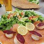 Salade aux noix de Saint-Jacques