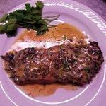 Tagliata con tartufo nero del Pollino e gorgonzola dolce dop