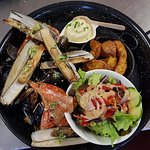 Parillada poissons/fruits de mer
