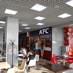 Caramel Shopping and Entertainment Center, Irkutsk. KFC in the Food Court.