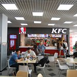 Caramel Shopping and Entertainment Center, Irkutsk. KFC up in the Food Court.