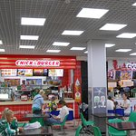 Caramel Shopping and Entertainment Center, Irkutsk. A nice Food Court on the upper floor.