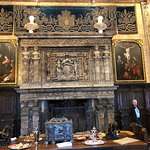 Fabulous fireplace and tapestries