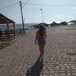 calçadão para a praia
