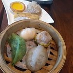 The various dumplings and desserts, part of the Chef's Dim Sum Pick Lunch Set