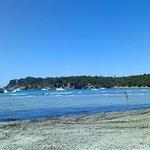 Vue sur la plage de l'Estagnol