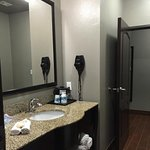 Suite Bathroom. It has 2 doors - one to the bedroom and one to the living room.