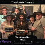 We escaped the magic and mystery room