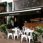 Enjoy a meal outside with our outdoor cafe seating!