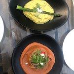 Polenta (top photo) and Eggplant (bottom photo)