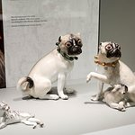 Pair of Pug Dogs from the Royal Palace at Warsaw, 1741-1745, Germany, Meissen Porcelain Manufactory, Gift of George and Helen Gardiner, G83.1.668.1-2