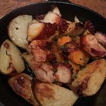 Octopus and potato small plate