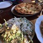 The mum salad with garlic bread