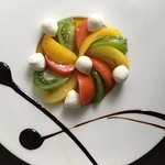 Patchwork de tomates & mozarella