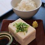 Cold-Tofu Lunch set. (冷や奴定食)