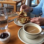 Popover with Jam & butter, coffee $12