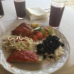 A Wonderful Lunch.....with hibiscus tea!