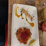 tartare de poisson à la mangue