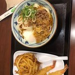 Nike udon and vegetable ball and shrimp tempura