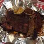 Pork Ribs and Brisket Plate